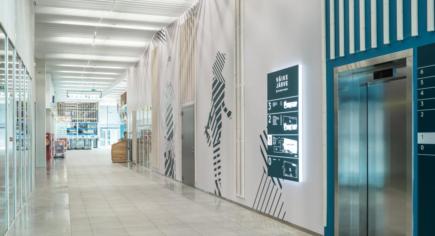 Väike-Järve ärikeskus koridor 1